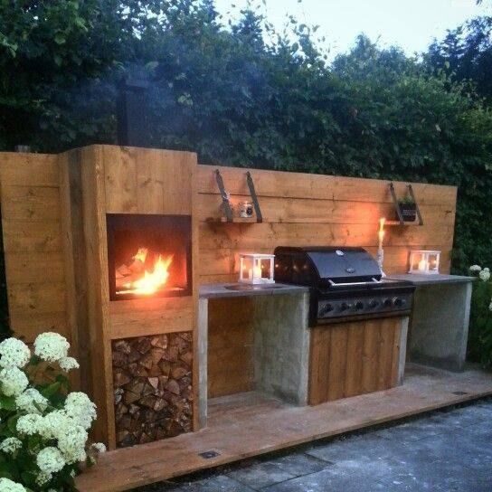 Build your own outdoor kitchen of scaffolding wood you for Build your outdoor kitchen