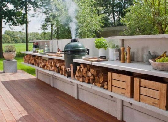 Create your own outside kitchen with a woodworkingplan