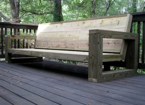 create your own couch out of scaffold wood