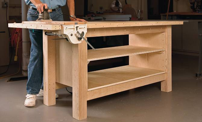 Build a workbench yourself with a woodworkingplan? Want to ...