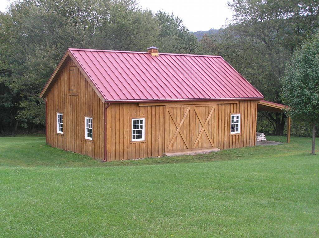 Build a barn with a construction drawing yourself you can for Wood barn construction
